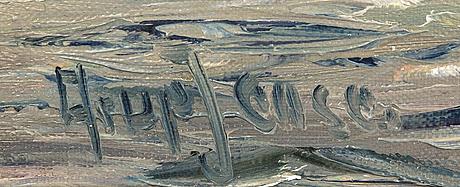 Arup jensen, oil on canvas signed.