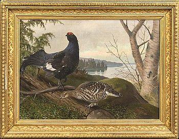Matti Karppanen, oil on canvas signed and dated 1901.