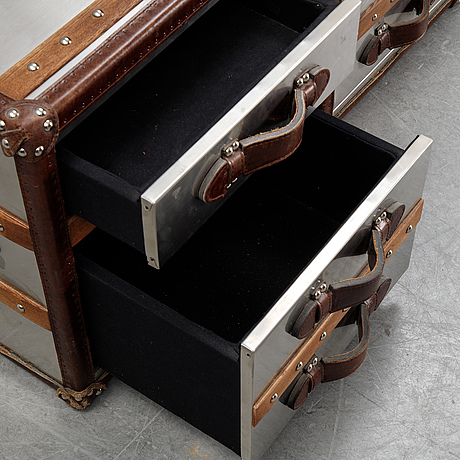 A pair of contemporary side tables.