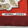 "Hermès, scarf, ""les eperons""."