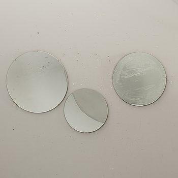 A set of three 1950s mirrors.