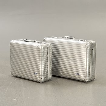 A pair of Rimowa metal suitcases second half of the 20th century.