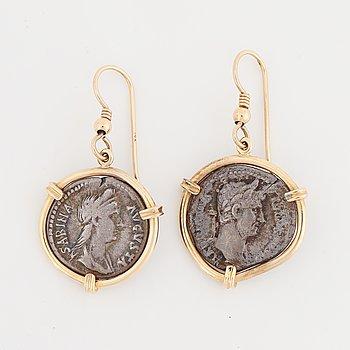 Coin earrings.