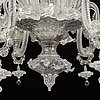 A venetian style glass ceiling lamp, 20th century.