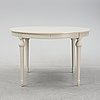 A gustavian style dining table, end of the 20th century.