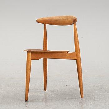 "A chair, 'Hjertestolen' by Hans Wegner, ""Fritz Hansen, Denmark."