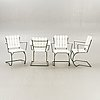 Garden chairs, 4 pcs, second half of the 20th century.