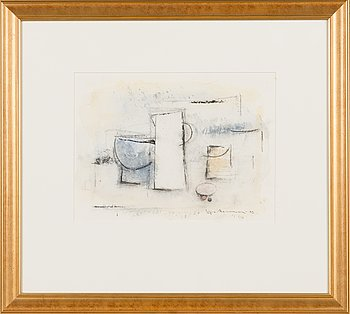Egon Meuronen, watercolour, signed and dated -93.