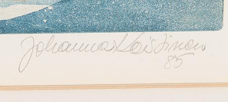 Johanna koistinen, etsning, signerad och daterad -85, numrerad tpla 27/30.