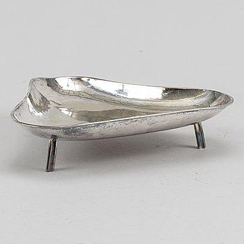 Karl Wojtech, a silver plated fruit bowl, Stockholm.
