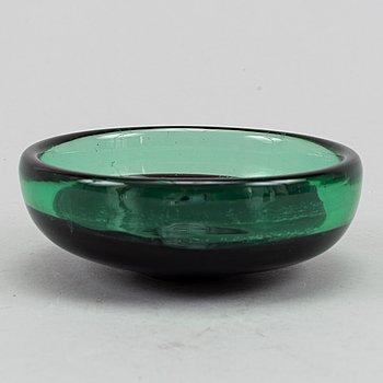 A glass bowl, Venini, Murano, Italy.