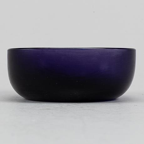 Paolo venini, a glass bowl, venini, murano, italy.