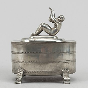 A pewter box, GAB Svenskt Tenn, 1931.
