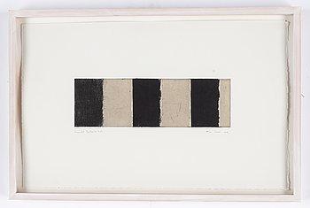 Alan Green, etsning och collage, signerad och daterad -99. Numrerad 4/7. Unik.