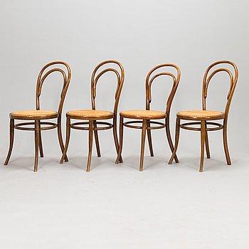 Tuoleja, 4 kpl, Thonet, 1900-luvun alku.