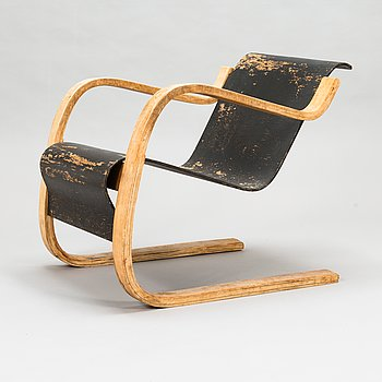 Alvar Aalto, nojatuoli, malli 31, Huonekalu- ja Rakennustyötehdas A.B 1930-luku.