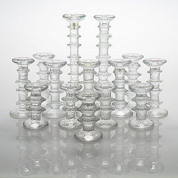 Timo Sarpaneva, set of 14 'Festivo' candlesticks, Iittala.