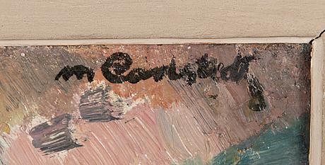 Mikko carlstedt, oil on canvas, signed.