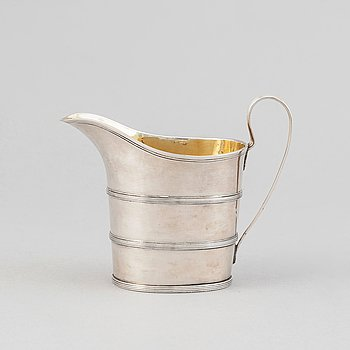 A silver creamer by Nils Limnelius, Stockholm, 1812.