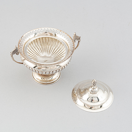 A sugar bowl, probably from italy.