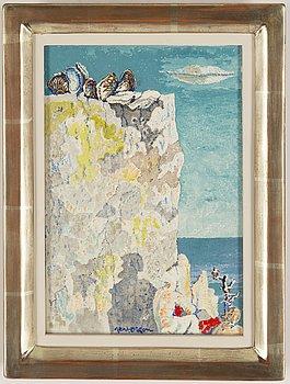 Axel Olson, oil on canvas, signed.