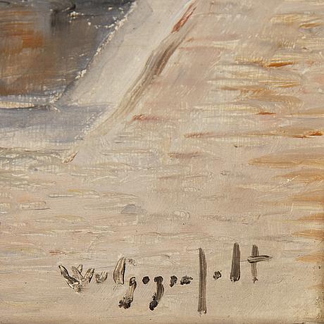 Wilhelm von gegerfelt, olja på pannå, signerad.