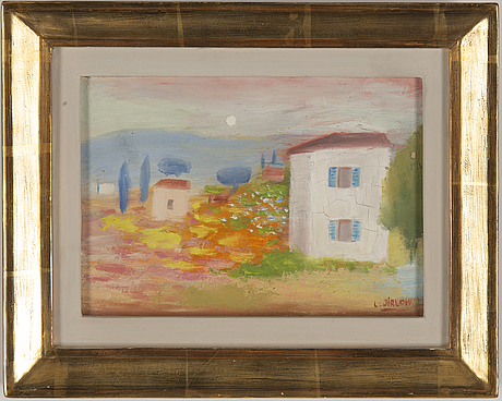 Lennart jirlow, oil on canvas, signed.