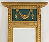 A late gustavian style mirror, early 20th century.
