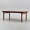 A scandinavian rosewood dining table, second half of the 20th century.