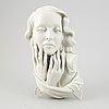 Väggskulptur, porslin, kunstporzellane metzler & ortloff, 1900-talets mitt.