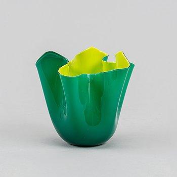 Paolo Venini & Fulvio Bianconi, a 'Fazzoletto' glass bowl, Venini, Murano, Italy, 2000.