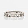 Ring, strömdahls, allians, 18k vitguld med briljant och prinsesslipade diamanter.