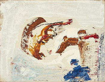 Rune Jansson, oil on canvas, signed and dated -55.