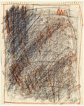 Eddie Figge,mixed media on paper, signed and dated 1964.