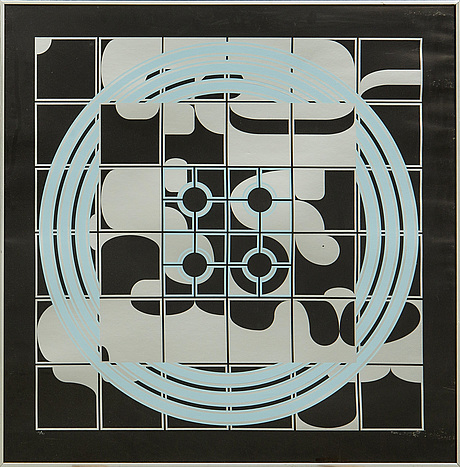 Beck & jung, serigraphy, signed, dated 1975 and numbered 14/50.