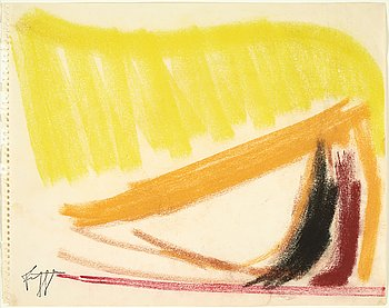 Eddie Figge, mixed media on paper, signed with stamp, executed around 1953.