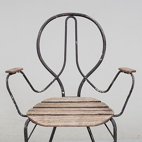 A set of four 'pia' chairs by tore ahlsén for gärsnäs.