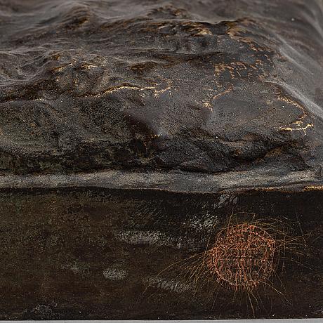 Antoine-pierre aubert, efter. signerad. otydl gjutarstämpel. bronze. höjd 37 cm. längd 66 cm.