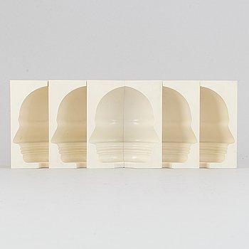 Sivert Lindblom, skulptur, 6 delar, 1968.