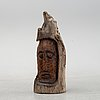 Alois lindner, a wooden sculpture, signed and dated -55.