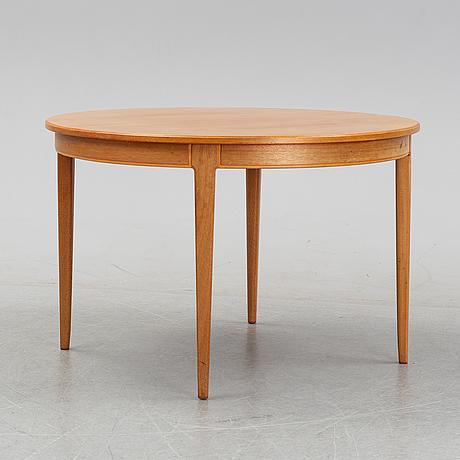 A 'herrgården'mahogany veneered dining table by carl malmsten.