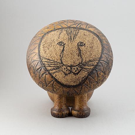 A stoneware 'lion maxi' by lisa larson, gustavsberg.