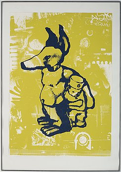 Neon, screenprint, 1997, signed and numbered 21/21.