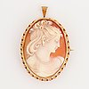 Sea shell cameo pendant/brooch.