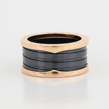 A bulgari b zero ring.