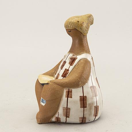 Lisa larson, figurin gustavsberg delvis glaserat stengods.