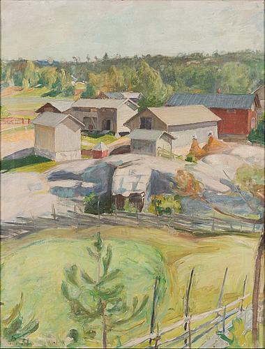 Pekka halonen, oil on canvas, signed ph.