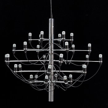 Gino Sarfatti, a model '2097/30' ceiling light from Flos, Italy.