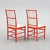 Six chairs, model 2025, by josef frank in 1925, firma svenskt tenn.