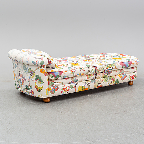 A couch, model 775, designed by josef frank in 1938, firma svenskt tenn.